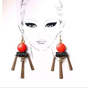 Asian inspired, dangling earrings